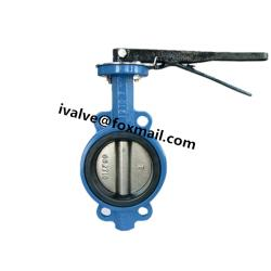 Rubber Lined Butterfly Wafer Valve