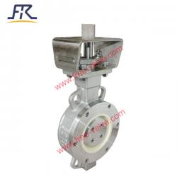 Pneumatic Regulating Control  SS304 body Ceramic Butterfly Valve for pulp & paper industry