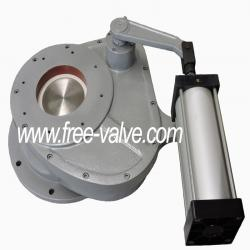 Anti wear ceramic rotary gate valve for EP system in coal power station