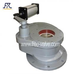 Pneumatic Anti wear Swing Ceramic Feed Gate Valve in coal power plant