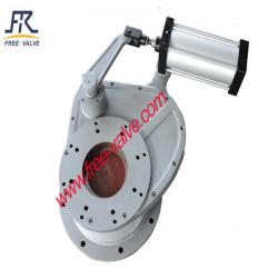 Pneumatic Anti wear Ceramic Lined Rotary Disc Discharge Ash Gate Valve