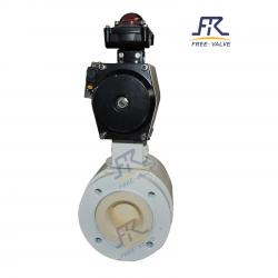 Wcb A105 Ceramic Lining Pneumatic Flanged Ball Valve