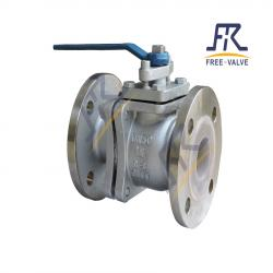 2PC Carbon Steel Wcb Fluorine Lining Flanged  Ball Valve,Flange Type Fluorine Lining Ball Valve