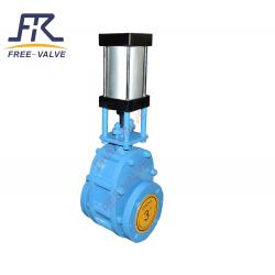 Pneumatic Ceramic Double Plate Gate Valve FRZ644TC