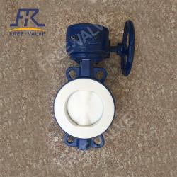 Fluorine Lined Butterfly Valve for Desulfurization and denitrification system
