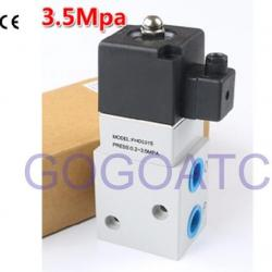 Industrial 3 Way Air Compressor High Pressure Solenoid Air Valve