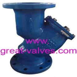 BS y strainer flanged ends