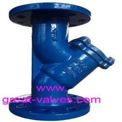 DIN y strainer flanged ends