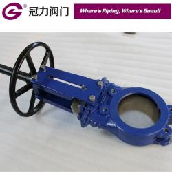 Ductile iron GGG40 PN10 Rising Stem Wafer Style Knife Gate Valve