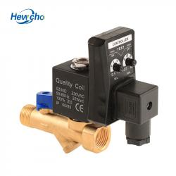 "Auto Drain Water Brass 1/2"" Filter Solenoid Valve With Timer Stainer"