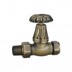 JD-223A Antique Brass Manual Throttle Traditional Radiator Valves