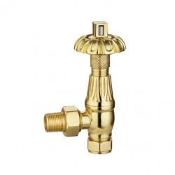 116S-J Angled Manual Chrome Traditional Brass Radiator Valve