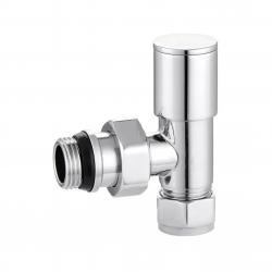 240-J Angled Manual Chrome Traditional Radiator Valve