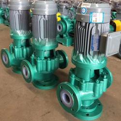 GDF Vertical pipeline fluorine plastic liner centrifugal pump