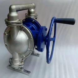 Hand operated diaphragm pump