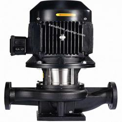 Vertical inline circulating booster pump