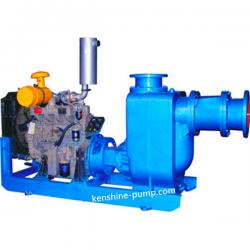 CZW diesel engine driving self-priming sewage pump
