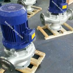 vertical stainless steel pipeline sewage pump