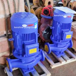 Vertical inline centrifugal booster circulating pump