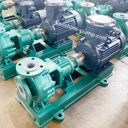 Horizontal fluorine lined centrifugal pump