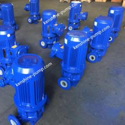 Vertical fluoroplastic centrifugal pump