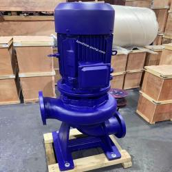 Single stage vertical sewage pump