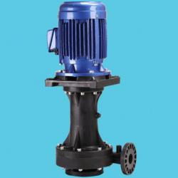 idling-capable vertical chemical pump