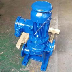Outdoor vertical sewage pump