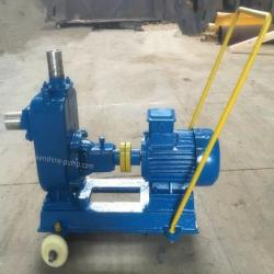 ZW Self priming sewage pump with trailer