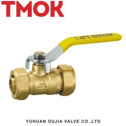Brass stove front copper handle ball valve