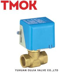 Brass electric two-way ball valve
