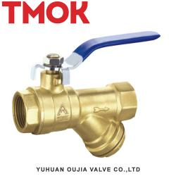 Brass with steel long handle filter ball valve