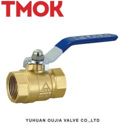 Brass color with steel long handle ball valve