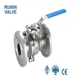Stainless steel ball valve flange end with ISO5211 Mount pad