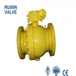 2PC Cast Steel Trunnion Mounted Ball Valve