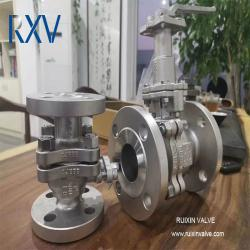 2pc stainless steel ball valve with Extended stem RF connection
