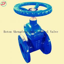 DIN3202 DN100 GGG50 PN16 F4 ductile iron heavy type resilient soft seat gate valve