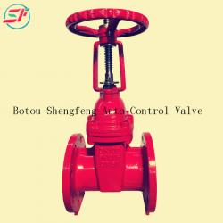 Shengfeng brand rising stem China pn16 GGG50 ductile iron cast iron gate valve