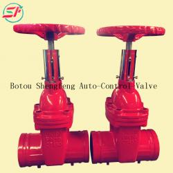 bs5163 PN16 cast iron grooved end water gate valve