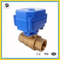 brass stainless steel 110v 2 way motorized ball valve with actuator