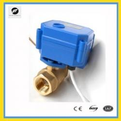 NPT female thread 2 way brass motorized ball valve for water control