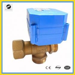 Mini 3 Way Electric Ball Valve for HVAC