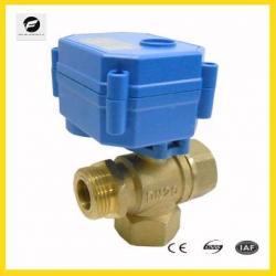 5V 12V 24V 110V 220V 2 way 3-way motorized ball valve