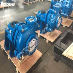 Horizontal, cantilevered, centrifugal, single stage 4/3-AH type slurry pump
