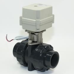 DC12/24V 3 wires control 2-way NPT/BSP 2'' UPVC Motorized Ball Valve