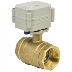 Brass NPT/BSP 1 1/4'' CR201 DC12V/24V Motorized ball valve