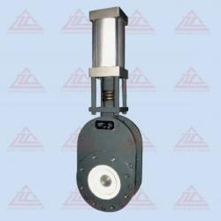 Swing ceramic feed valve