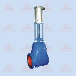 Pneumatic ceramic feed valve